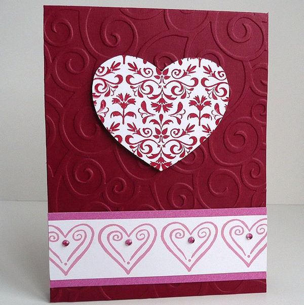 Beautiful-Heart-Shape-Handmade-Valentine-Card-idea